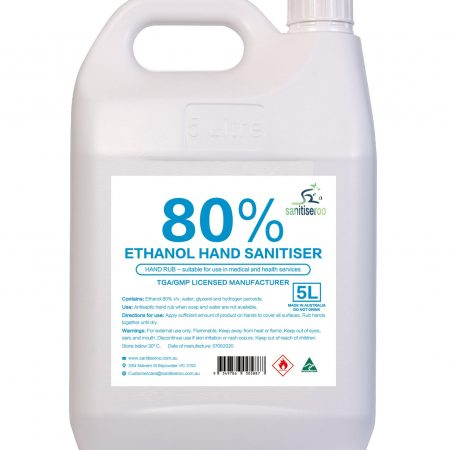 5l Hand sanitiser spray 80% alcohol