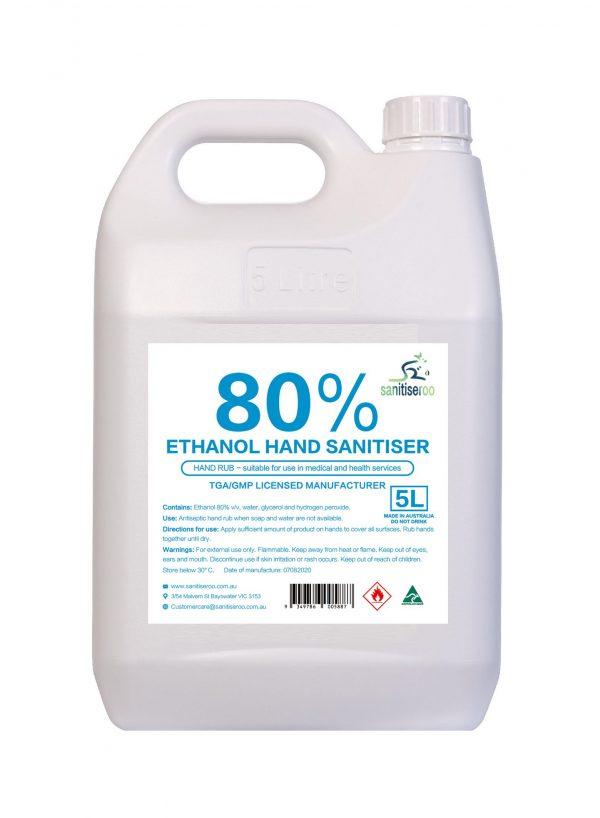 5l Hand sanitiser spray 80% alcohol