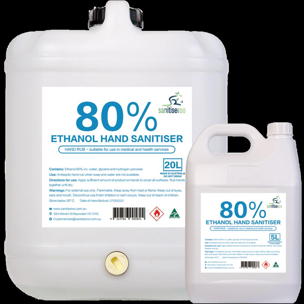 80% alcohol based hospital grade hand sanitiser spray